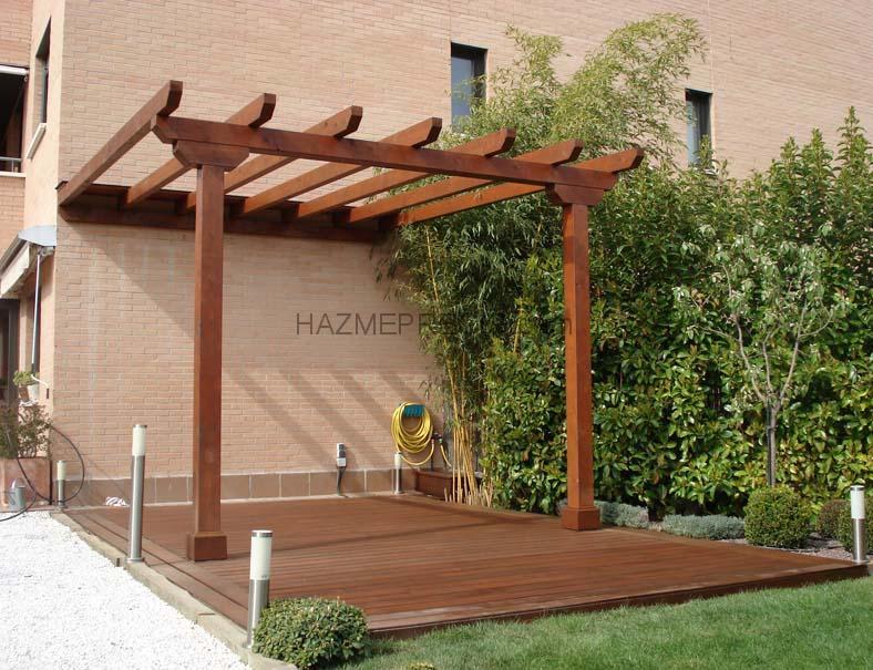 Las mejores pergolas de madera photos for Vigas de madera para jardin